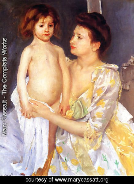 Mary Cassatt - Jules Being Dried By His Mother