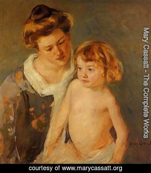Mary Cassatt - Jules Standing By His Mother