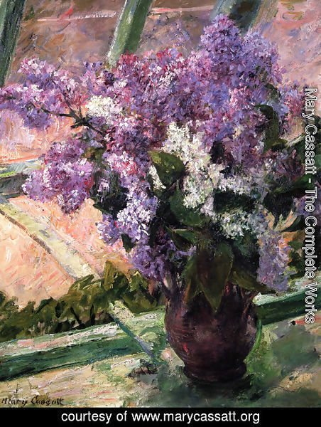 Mary Cassatt - Lilacs In A Window2