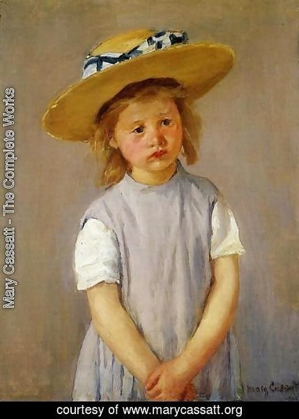 Mary Cassatt - Little Girl In A Big Straw Hat And A Pinnafore