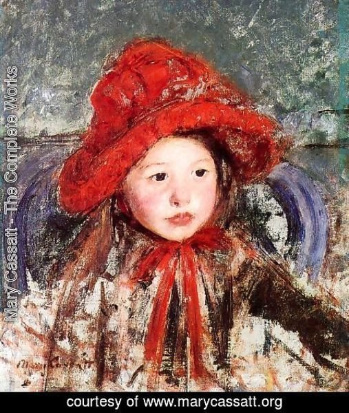 Mary Cassatt - Little Girl In A Large Red Hat