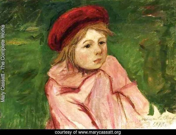 Little Girl In A Red Beret