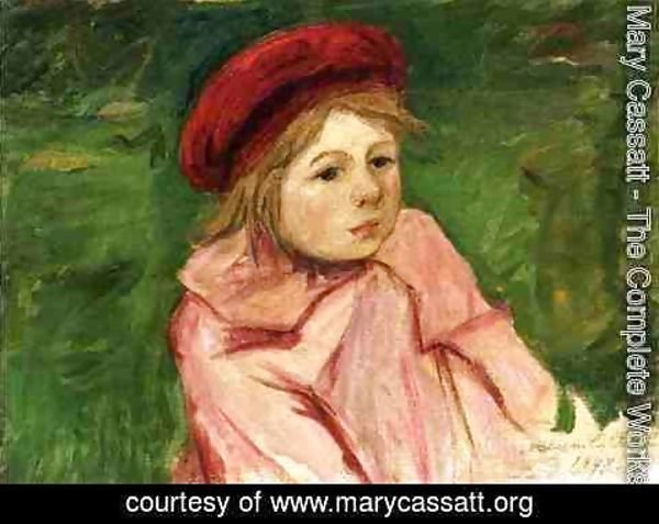 Mary Cassatt - Little Girl In A Red Beret