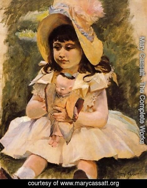 Mary Cassatt - Little Girl With A Japanese Doll