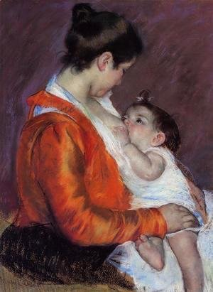 Mary Cassatt - Louise Nursing Her Child