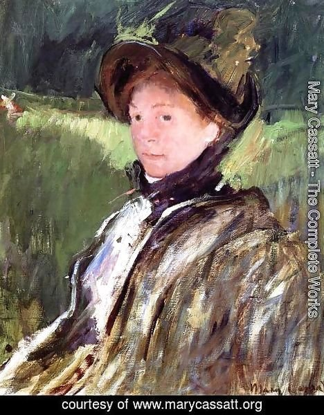 Mary Cassatt - Lydia Cassatt In A Green Bonnet And A Coat