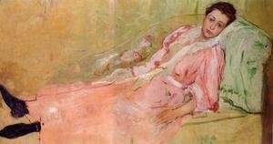 Mary Cassatt - Lydia Reading On A Divan