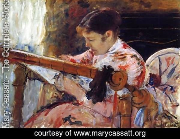 Mary Cassatt - Lydia Seated At An Embroidery Frame