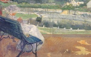 Mary Cassatt - Lydia Seated On A Terrace  Crocheting