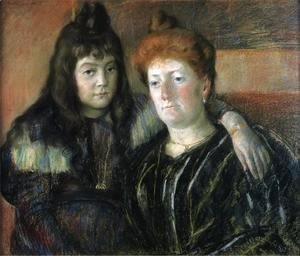Mary Cassatt - Madame Meerson And Her Daughter