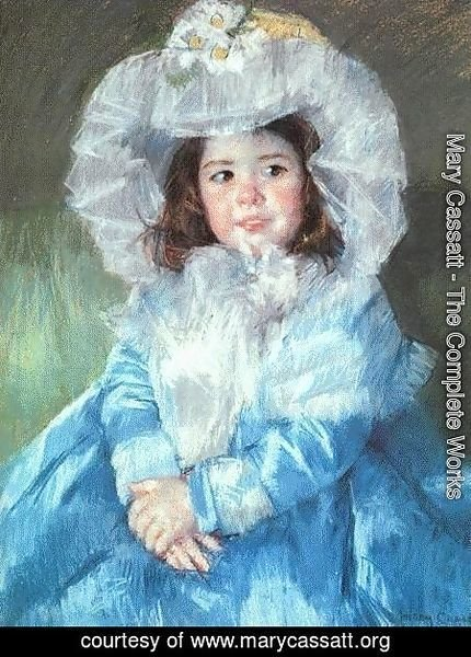 Mary Cassatt - Margot In Blue