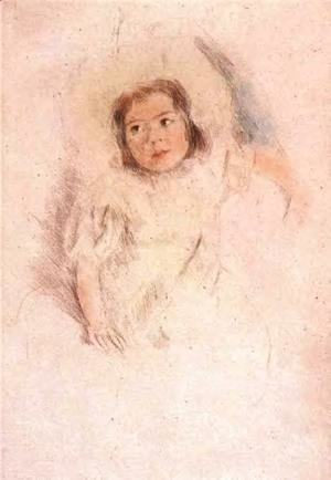 Mary Cassatt - Margot Wearing A Bonnet