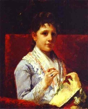 Mary Cassatt - Mary Ellison Embroidering