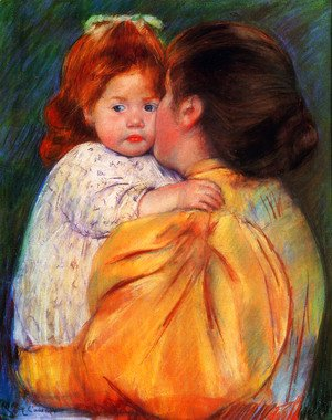 Mary Cassatt - Maternal Kiss