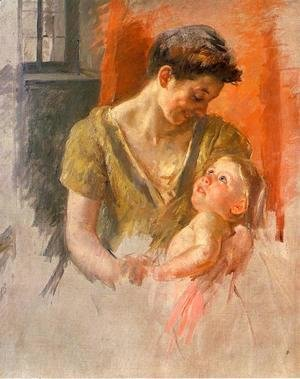 Mary Cassatt - Mother And Child Smiling At Each Other
