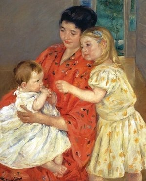 Mary Cassatt - Mother And Sara Admiring The Baby