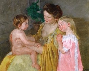 Mary Cassatt - Mother And Two Children