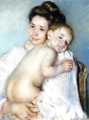 Mary Cassatt - Mother Berthe Holding Her Baby