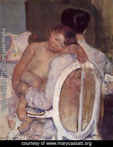 Mary Cassatt - Mother Holding A Child In Her Arms