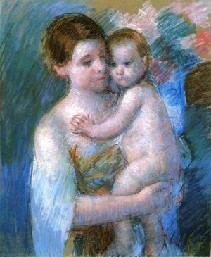 Mary Cassatt - Mother Holding Her Baby