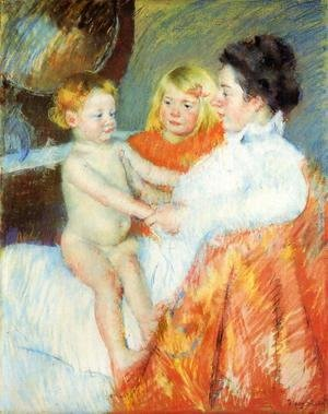 Mary Cassatt - Mother  Sara And The Baby