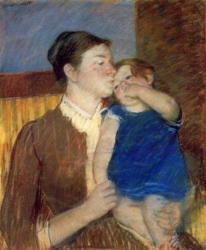 Mary Cassatt - Mothers Goodnight Kiss