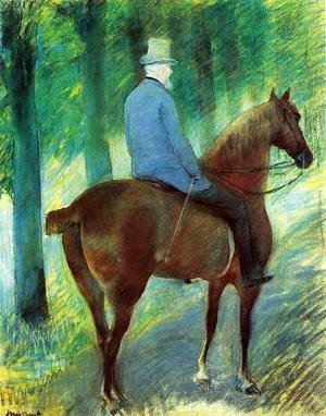 Mary Cassatt - Mr Robert S Cassatt On Horseback