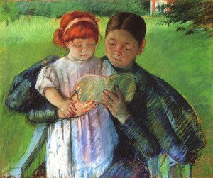 Mary Cassatt - Nurse Reading To A Little Girl