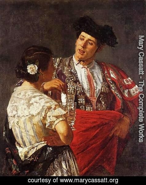 Mary Cassatt - Offering The Panel To The Bullfighter