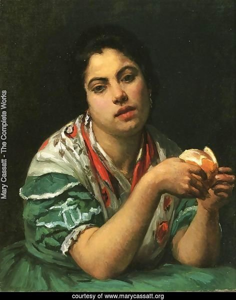 Peasant Woman Peeling An Orange