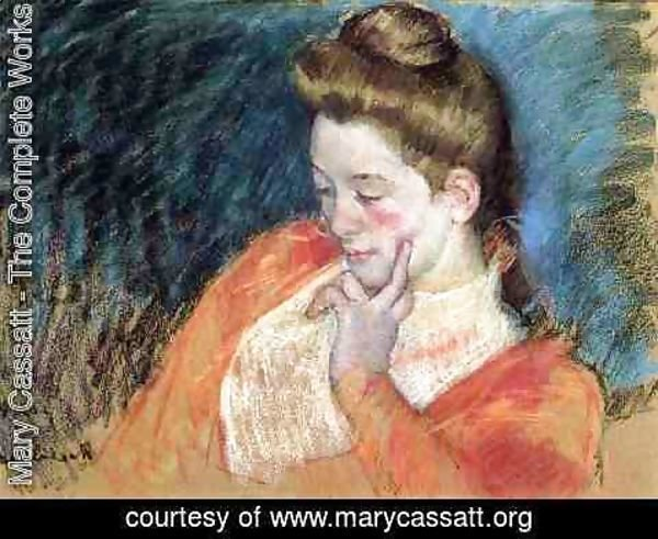 Mary Cassatt - Portrait Of A Young Woman