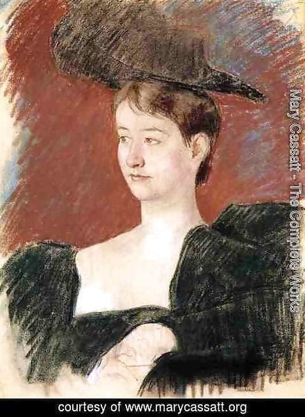 Mary Cassatt - Portrait Of A Young Woman In Green
