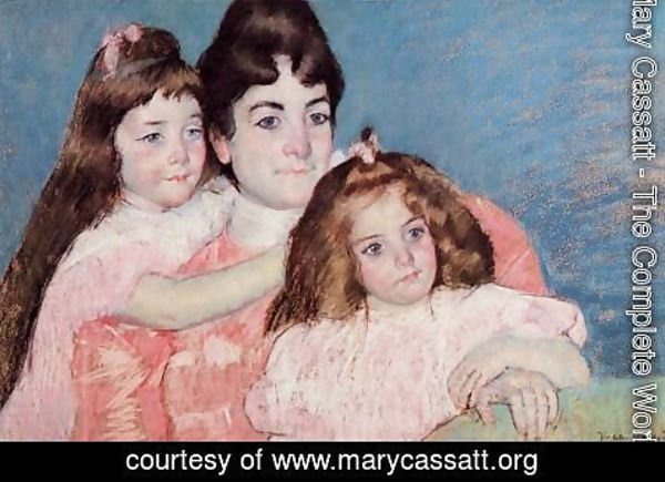 Mary Cassatt - Portrait Of Madame A  F  Aude And Her Two Daughters