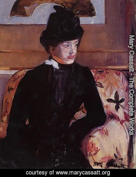 Mary Cassatt - Portrait Of Madame J Aka Young Woman In Black