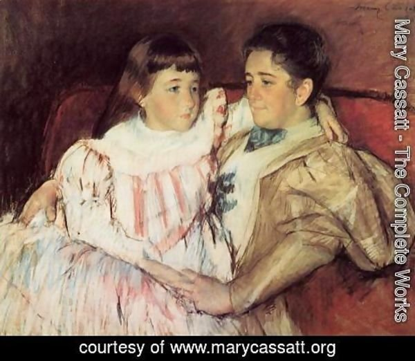 Mary Cassatt - Portrait Of Mrs Havemeyer And Her Daughter Electra
