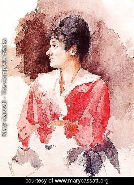 Mary Cassatt - Profile Of An Italian Woman