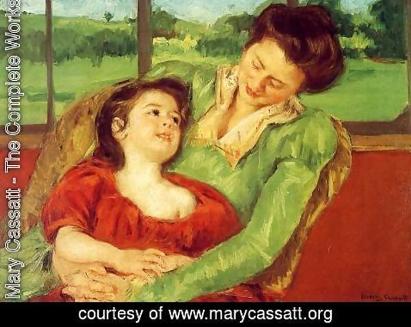 Mary Cassatt - Reine Lefebre And Margot Before A Window