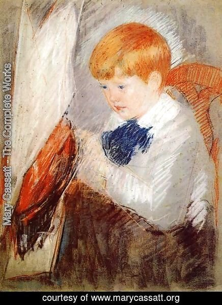Mary Cassatt - Robert And His Sailboat