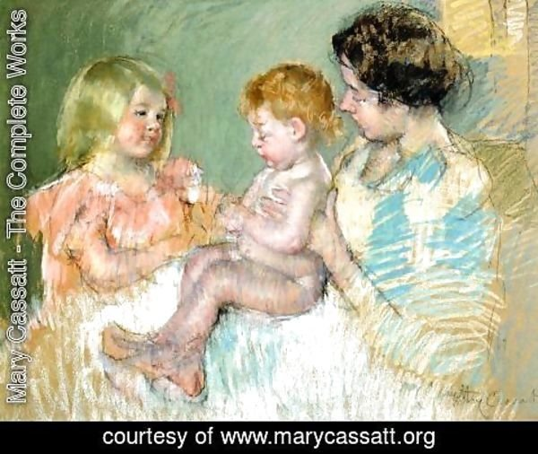 Mary Cassatt - Sara And Her Mother With The Baby