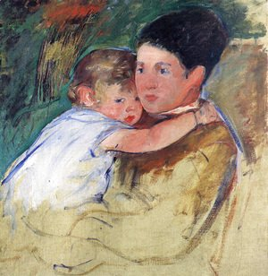 Mary Cassatt - Sketch Of Anne And Her Nurse