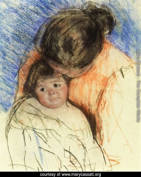 Sketch Of Mother Looking Down At Thomas