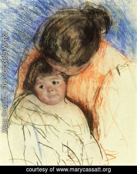 Mary Cassatt - Sketch Of Mother Looking Down At Thomas