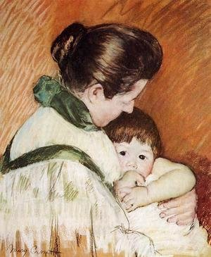 Mary Cassatt - Sleepy Thomas Sucking His Thumb