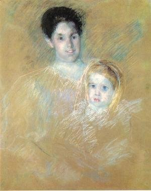 Mary Cassatt - Smiling Mother With Sober Faced Child