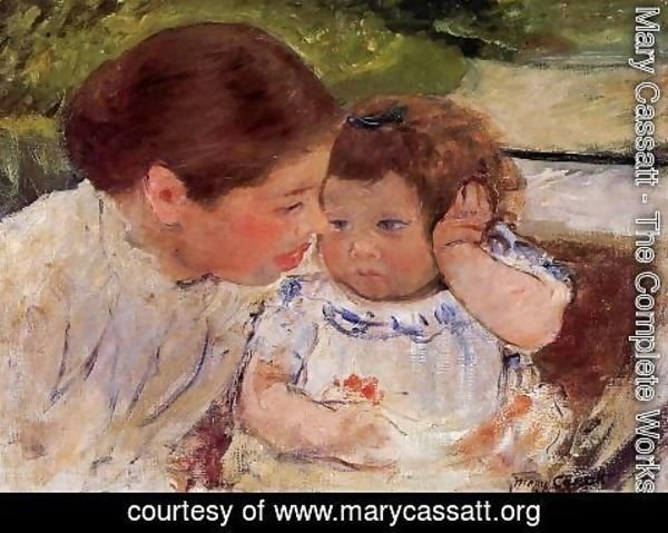 Mary Cassatt - Susan Comforting The Baby