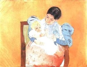 Mary Cassatt - The Barefoot Child