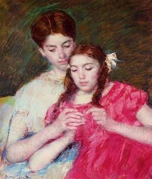 Mary Cassatt - The Crochet Lesson