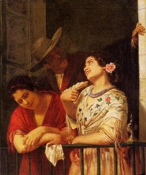 Mary Cassatt - The Flirtation   A Balcony In Seville