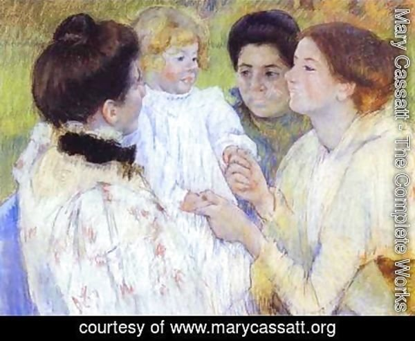 Mary Cassatt - Woman Admiring A Child