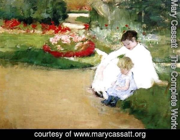 Mary Cassatt - Woman And Child Seated In A Garden